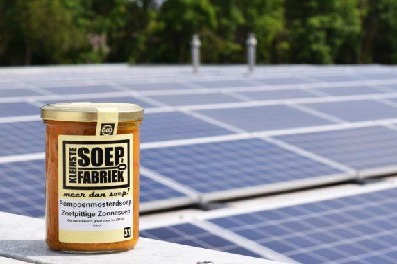 Duurzame soep bij Kleinstesoepfabriek door ZonnepanelenDelen