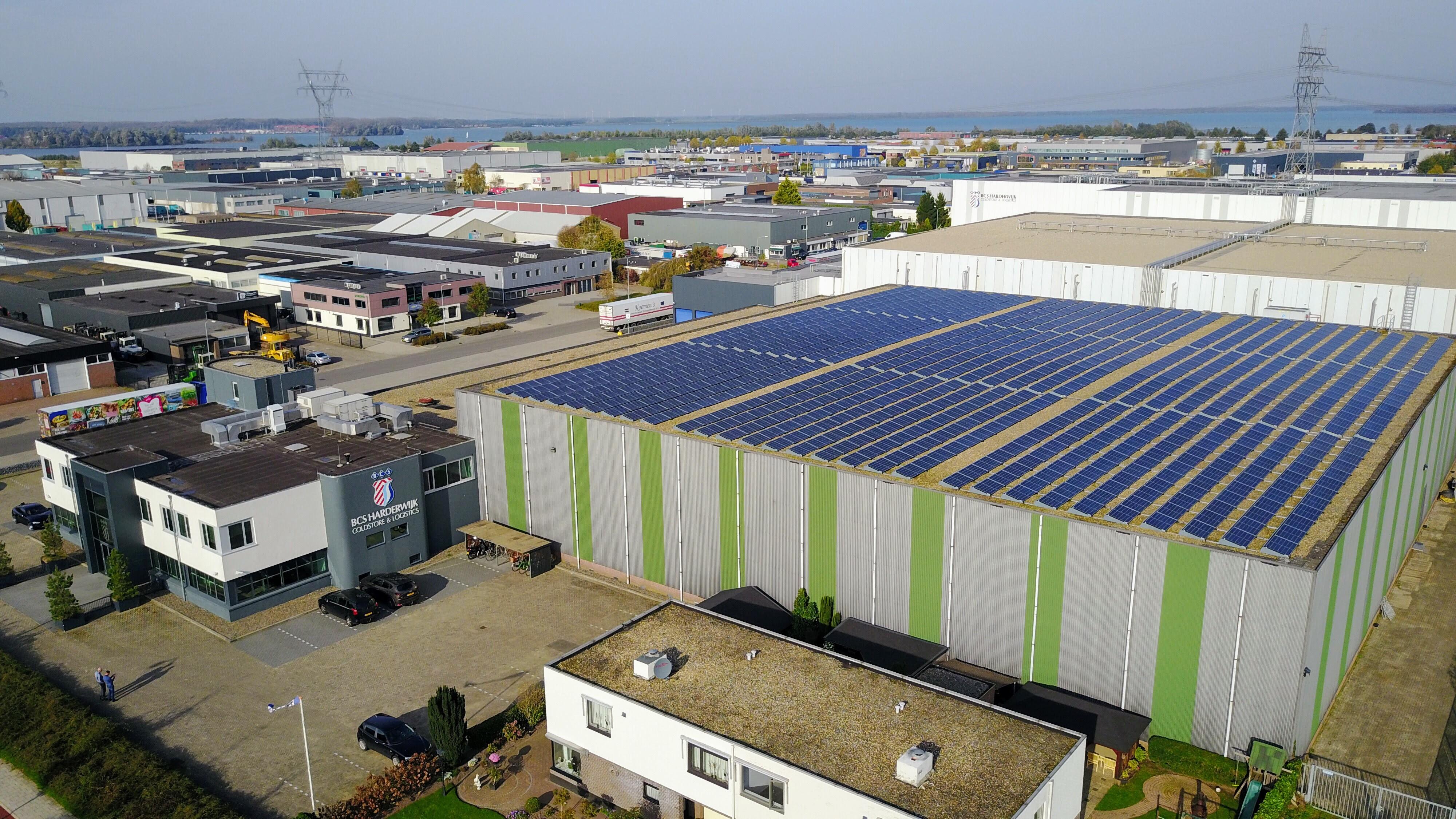 Zonnedak BCS Harderwijk - drone beelden