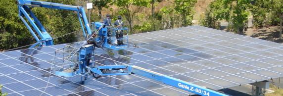 schoonmaak zonnepanelen