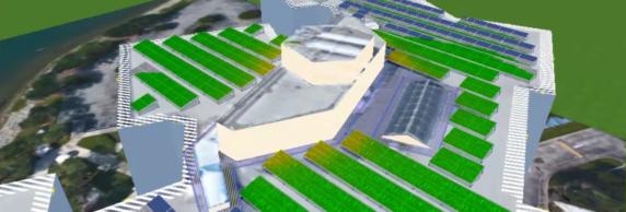Screenshot PVSOL - schaduwwerking op zonnepanelen