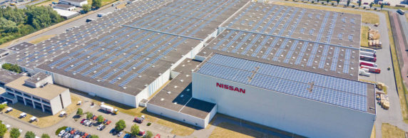 Zonnedak Nissan in Amsterdamse Haven