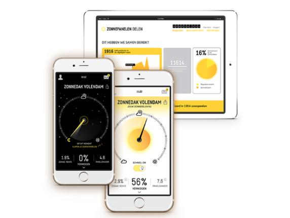 Monitoring van zonne-energieprojecten op ZonnepanelenDelen via mobiele app en online portal