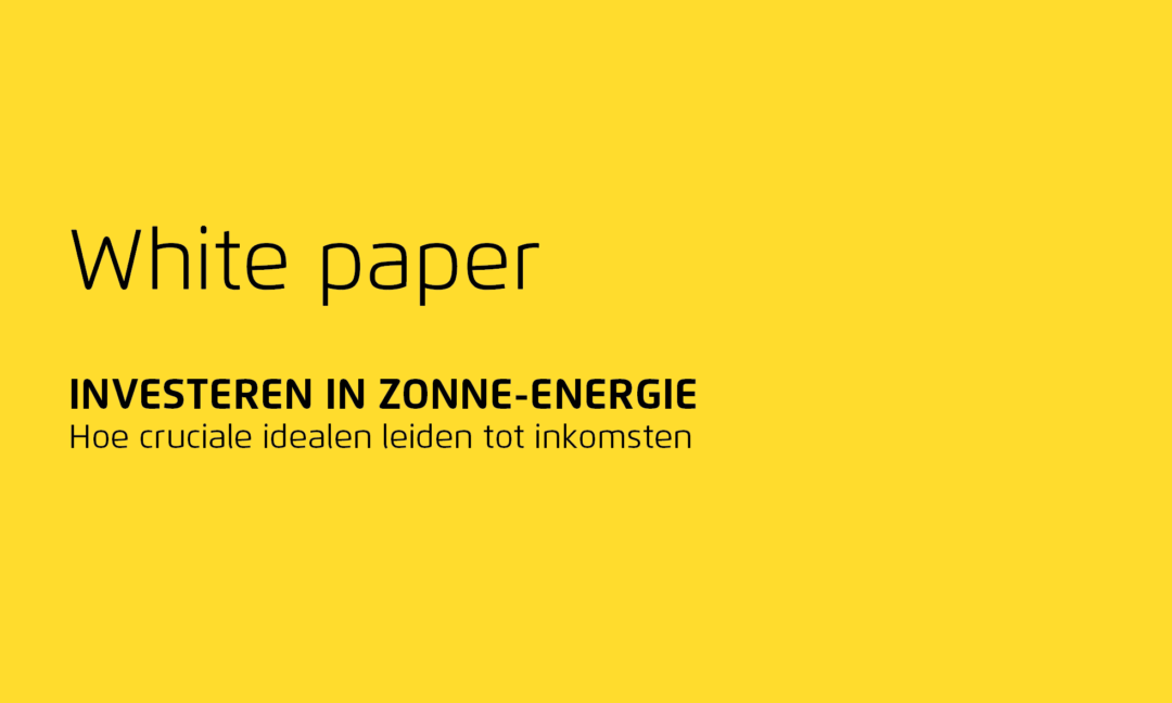 Whitepaper: investeren in zonne-energie